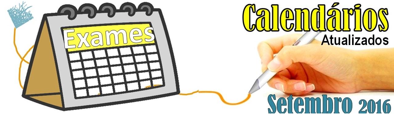 Calendários Exames Setembro Atualizados
