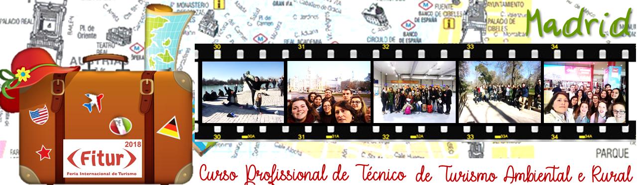 Visita de estudo a Madrid, com o intuito de visitar a FITUR
