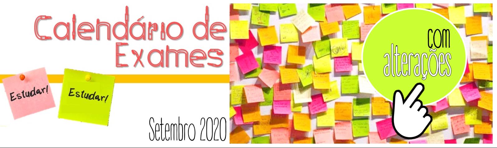 Calendário de Exames setembro 2020 (com alterações a 03 -09-2020)