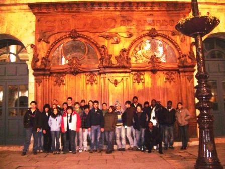 O grupo em Burgos